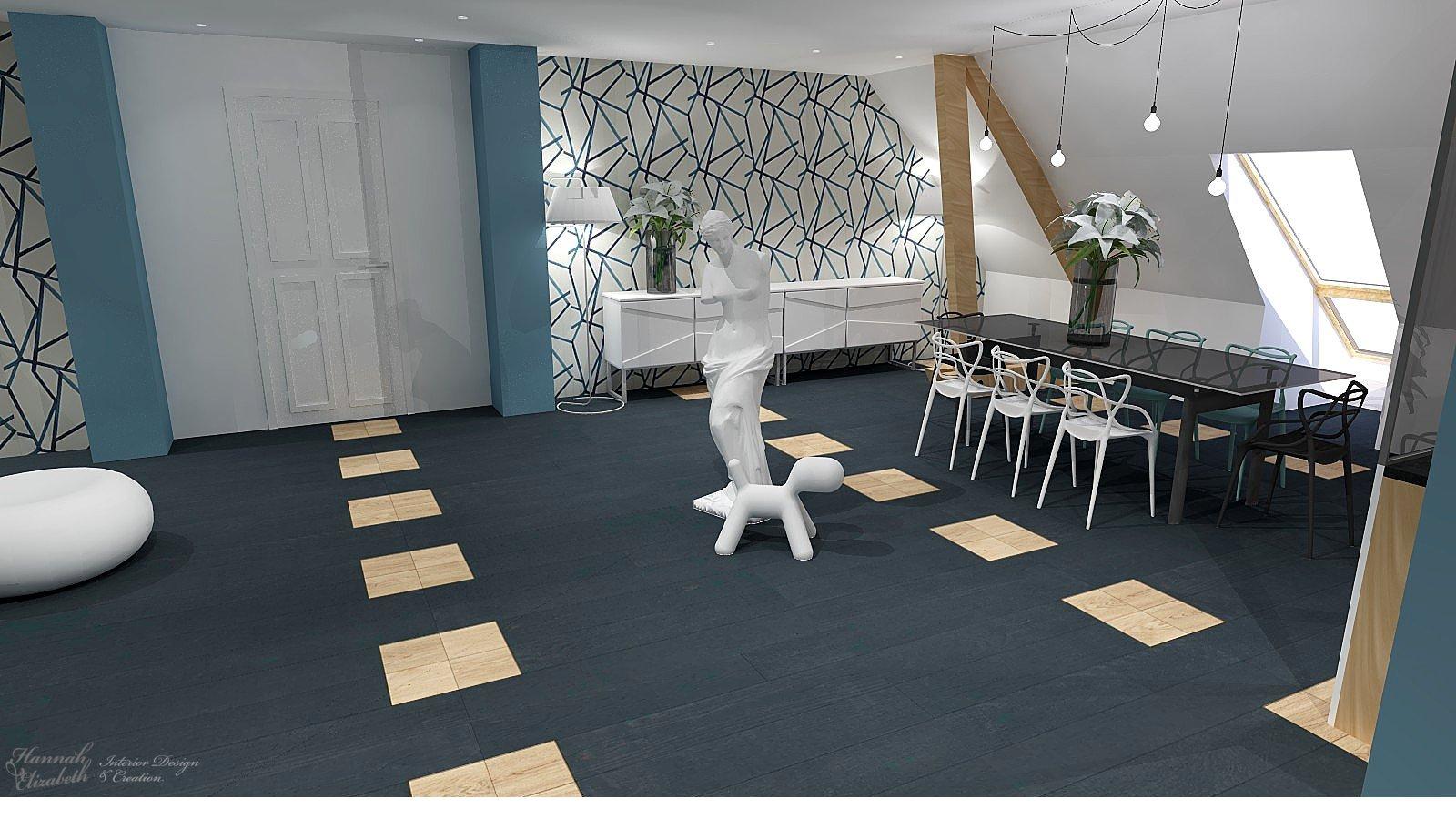 d coration d 39 un appartement familiale contemporain. Black Bedroom Furniture Sets. Home Design Ideas