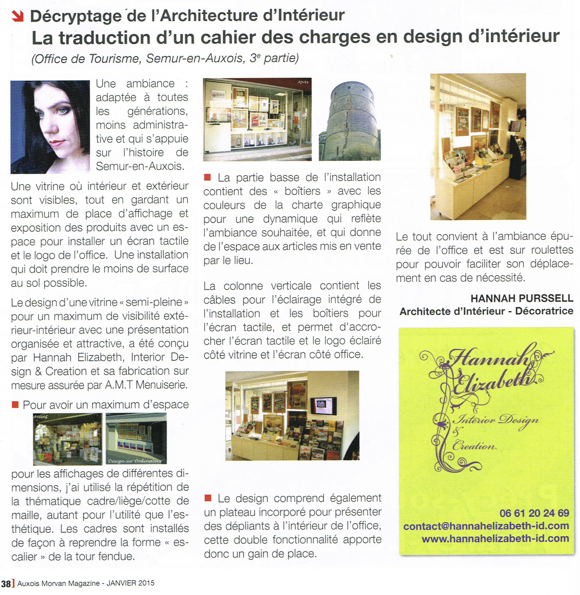 Article janvier 2015 hannah elizabeth interior design