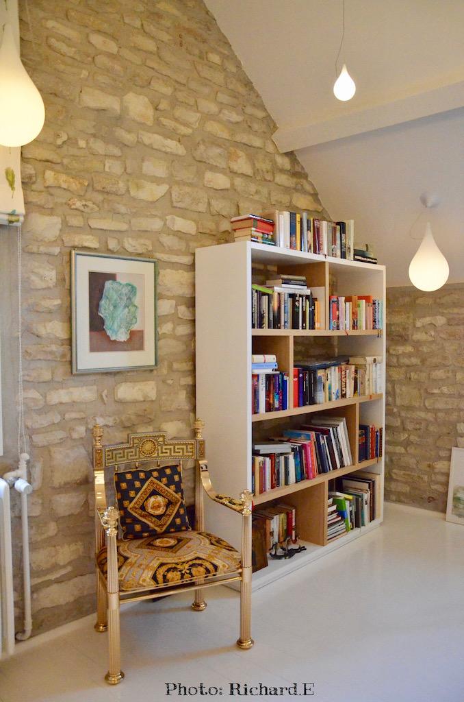 Bibliotheque luminaires goutte deau hannah elizabeth interior design