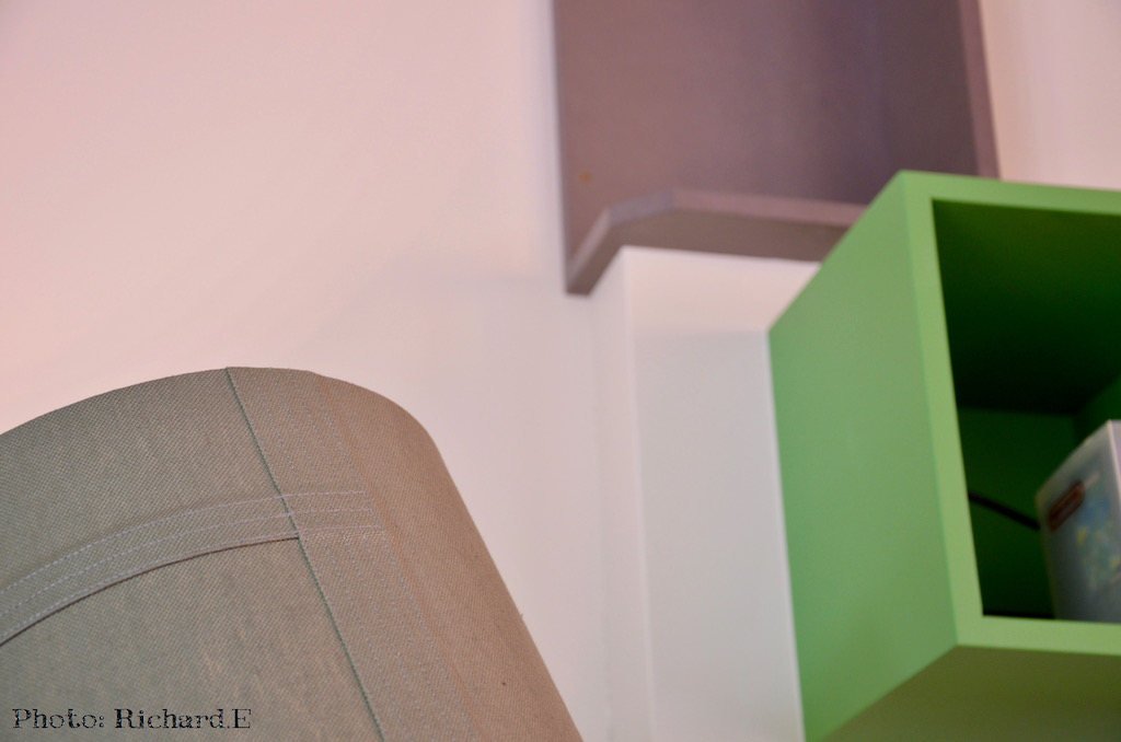 Caissons mural vert gris hannah elizabeth interior design