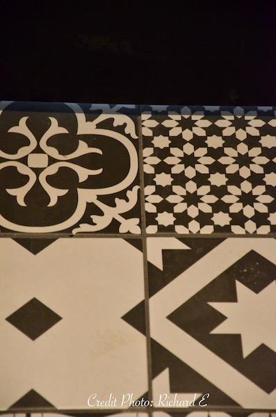 Carreaux ciment noir et blanc hannah elizabeth interior design