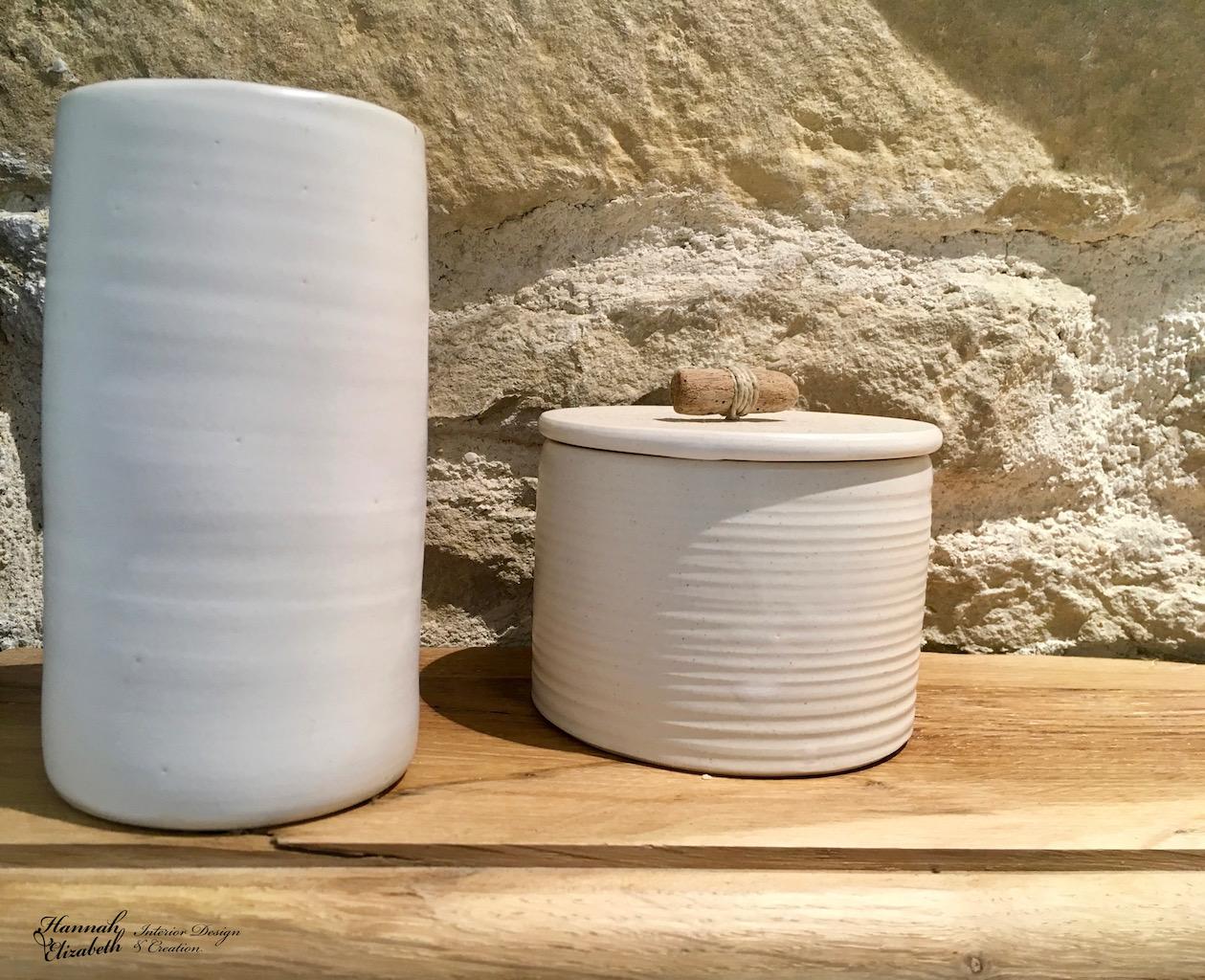 Ceramique blanc salle de bain pierre hannah elizabeth interior design