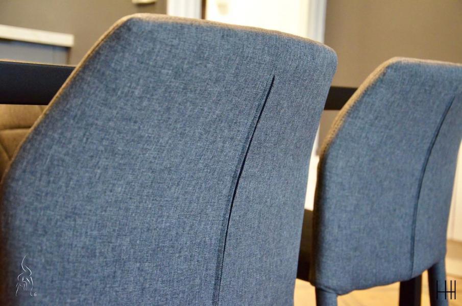 Chaise salle a manger gris hannah elizabeth interior design