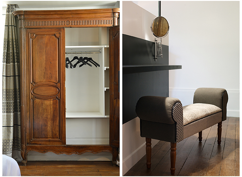 Chambre authentic noir blanc