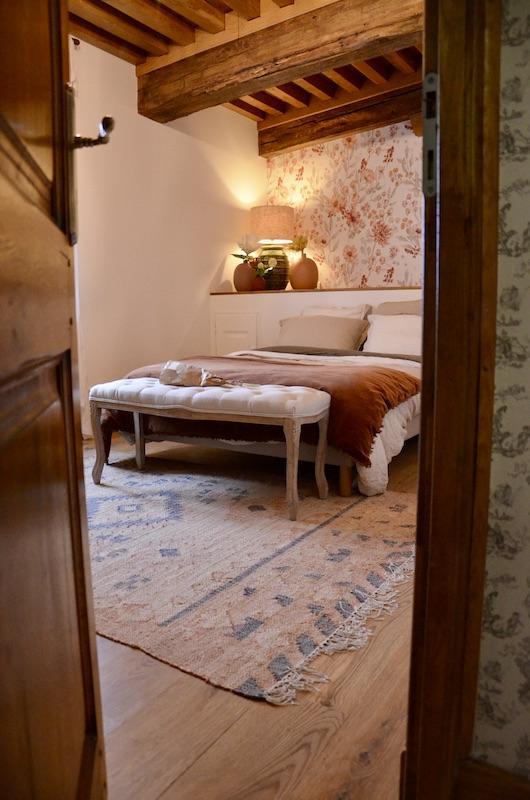 Chambre automne rouille poutres hannah elizabeth interior design