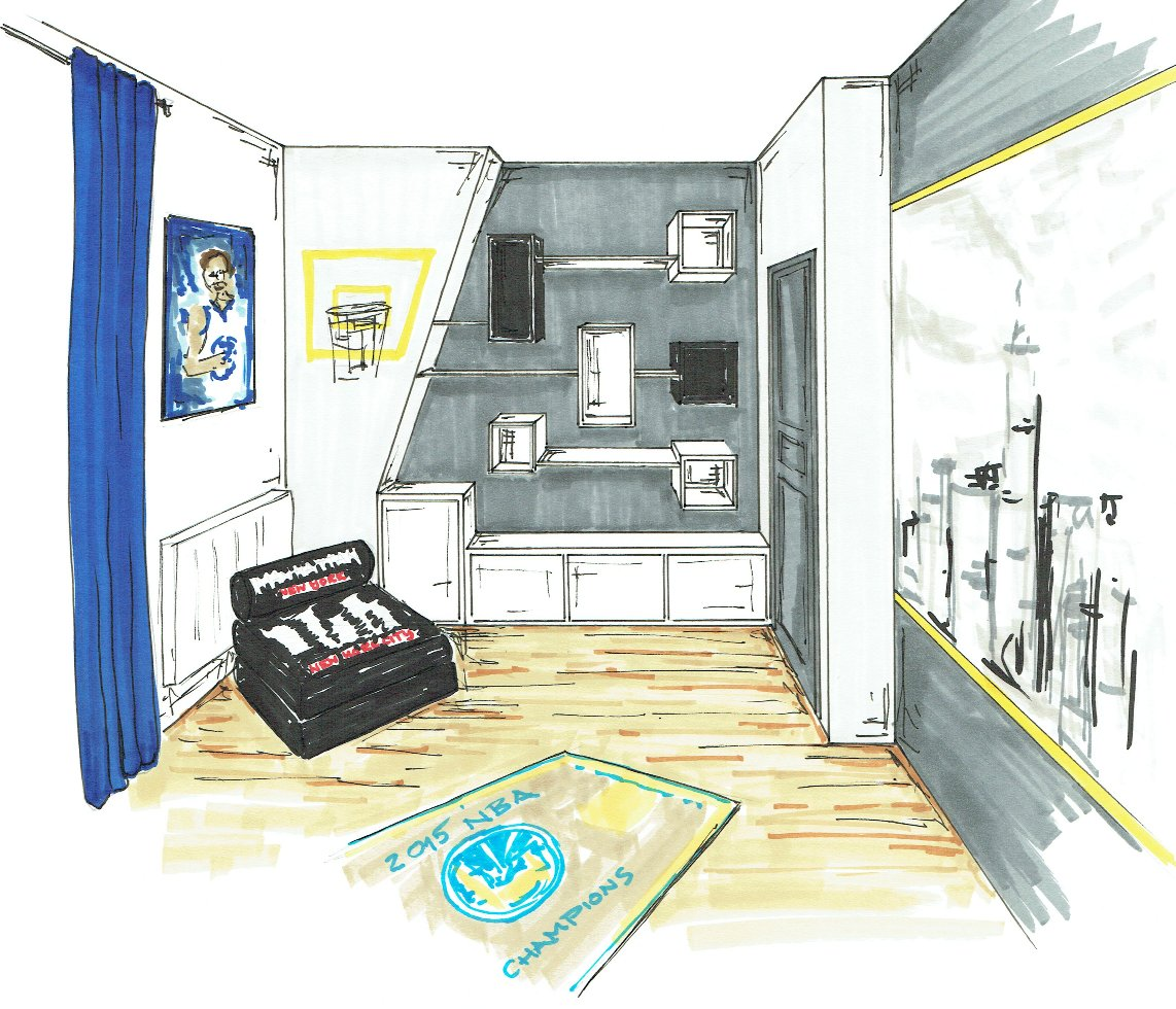 Chambre new york basket croquis