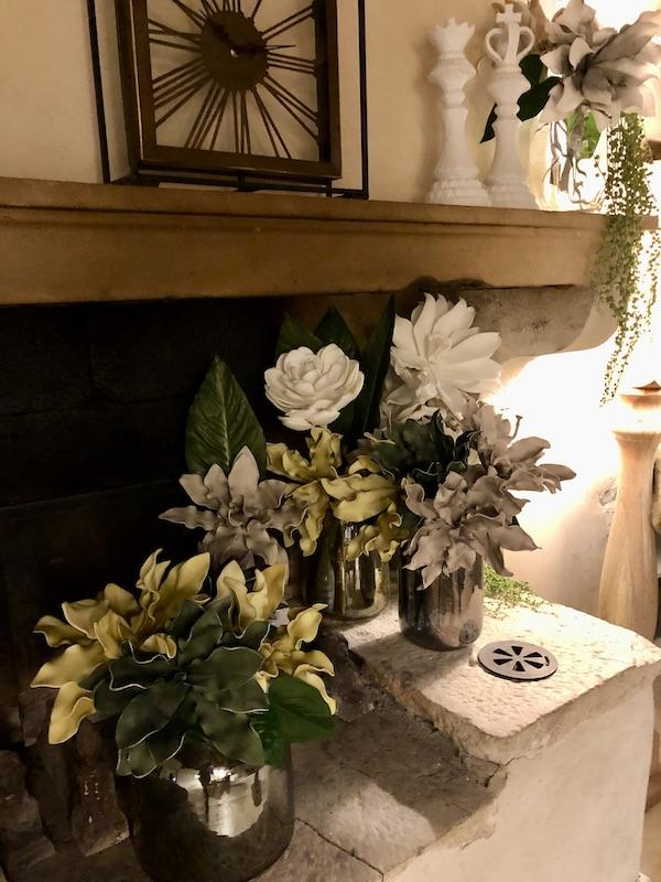 Cheminee et fleurs hannah elizabeth interior design