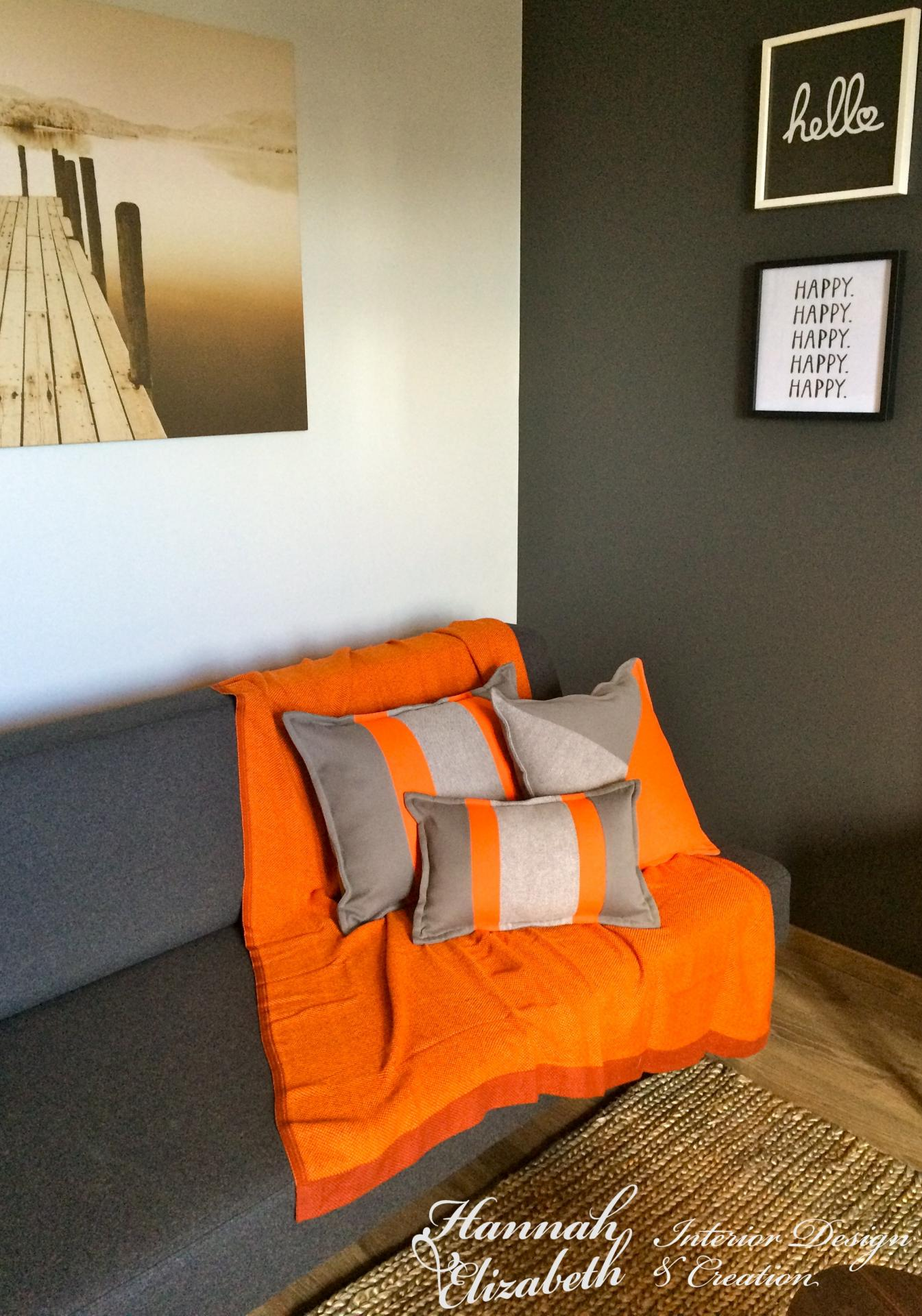 decoration de salon couleur orange  YouTube