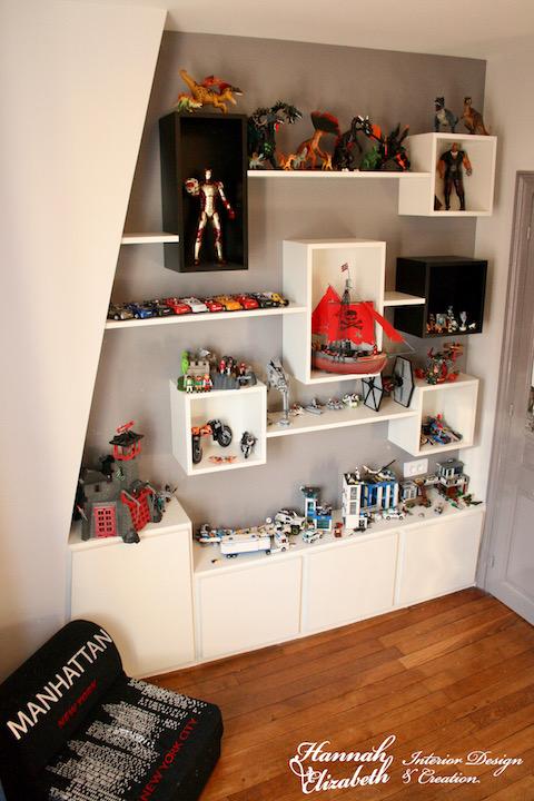 Composition mural pour lego