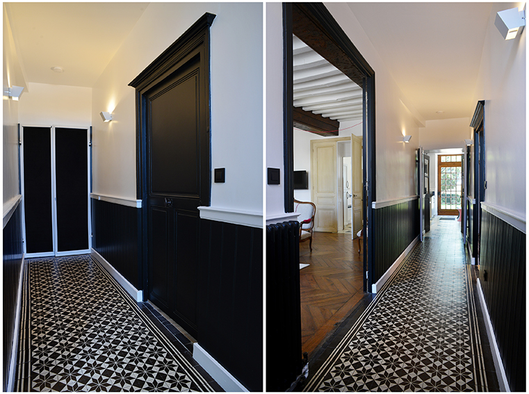 couloir carreaux de ciment elegant et certains carreaux commencent se fler with couloir. Black Bedroom Furniture Sets. Home Design Ideas