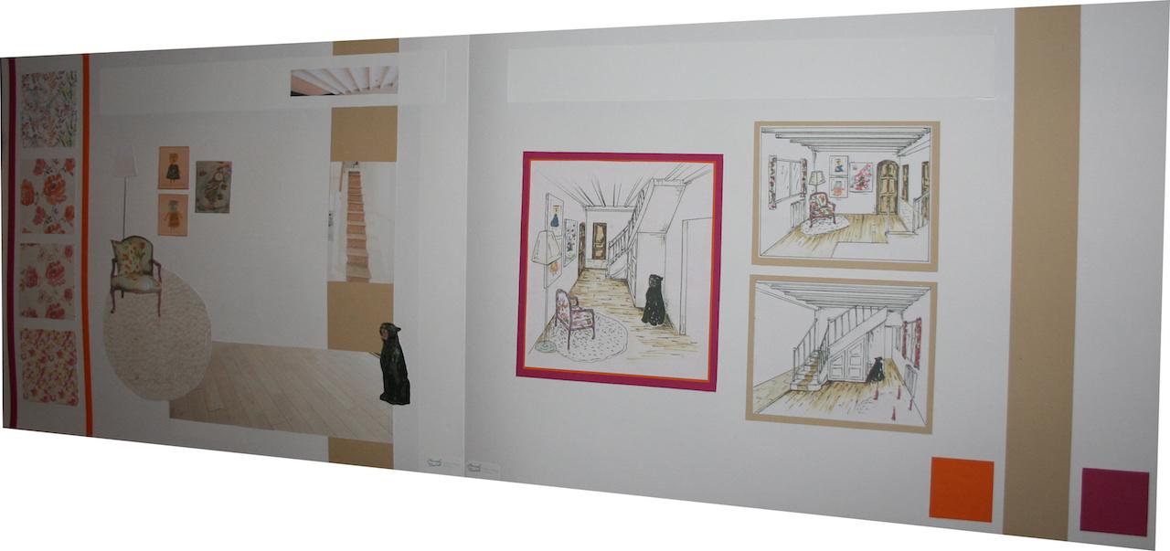Croquis design cage escalier
