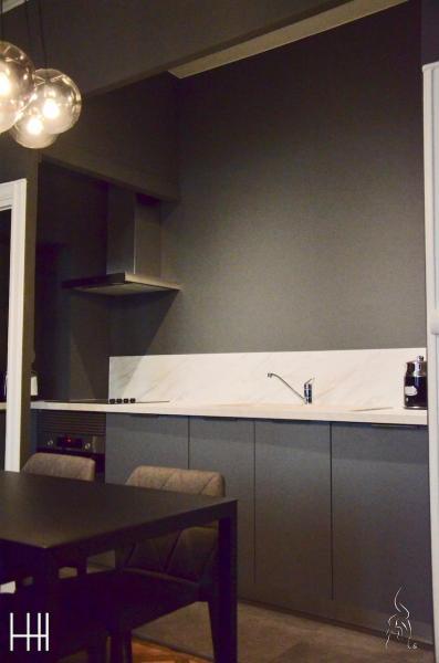 Cuisine gris hannah elizabeth interior design