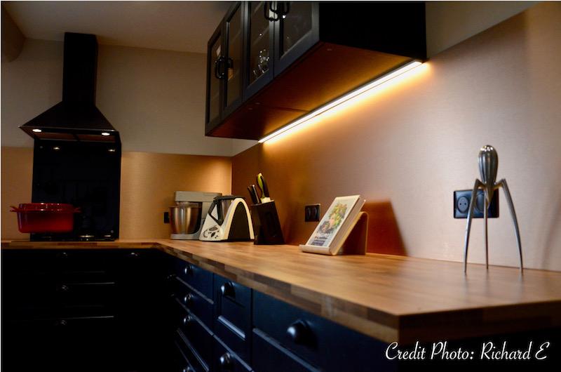Cuisine noir cuivre hannah elizabeth interior design