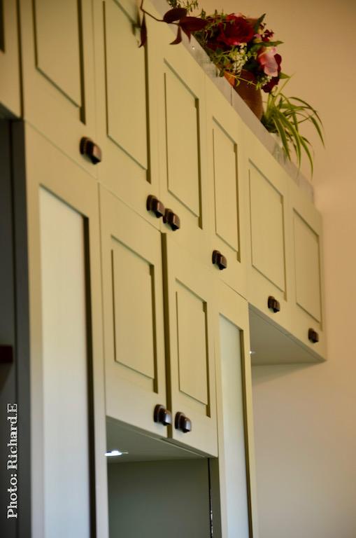 Cuisine vert mur hannah elizabeth interior design