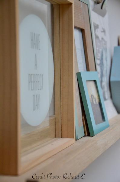 Deco bois etagere vert deau hannah elizabeth interior design
