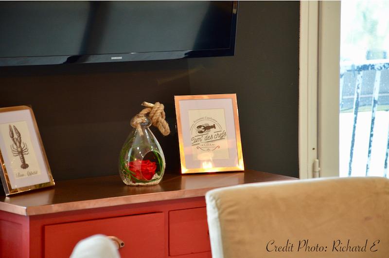 Deco cuisine rouge noir cuivre hannah elizabeth interior design