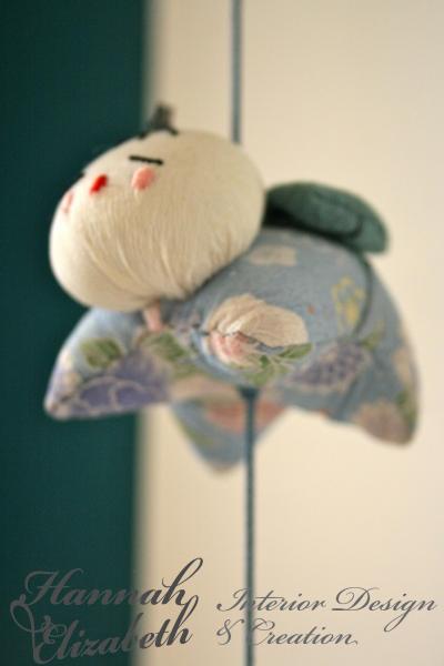 Decoration japonais chambre turquoise