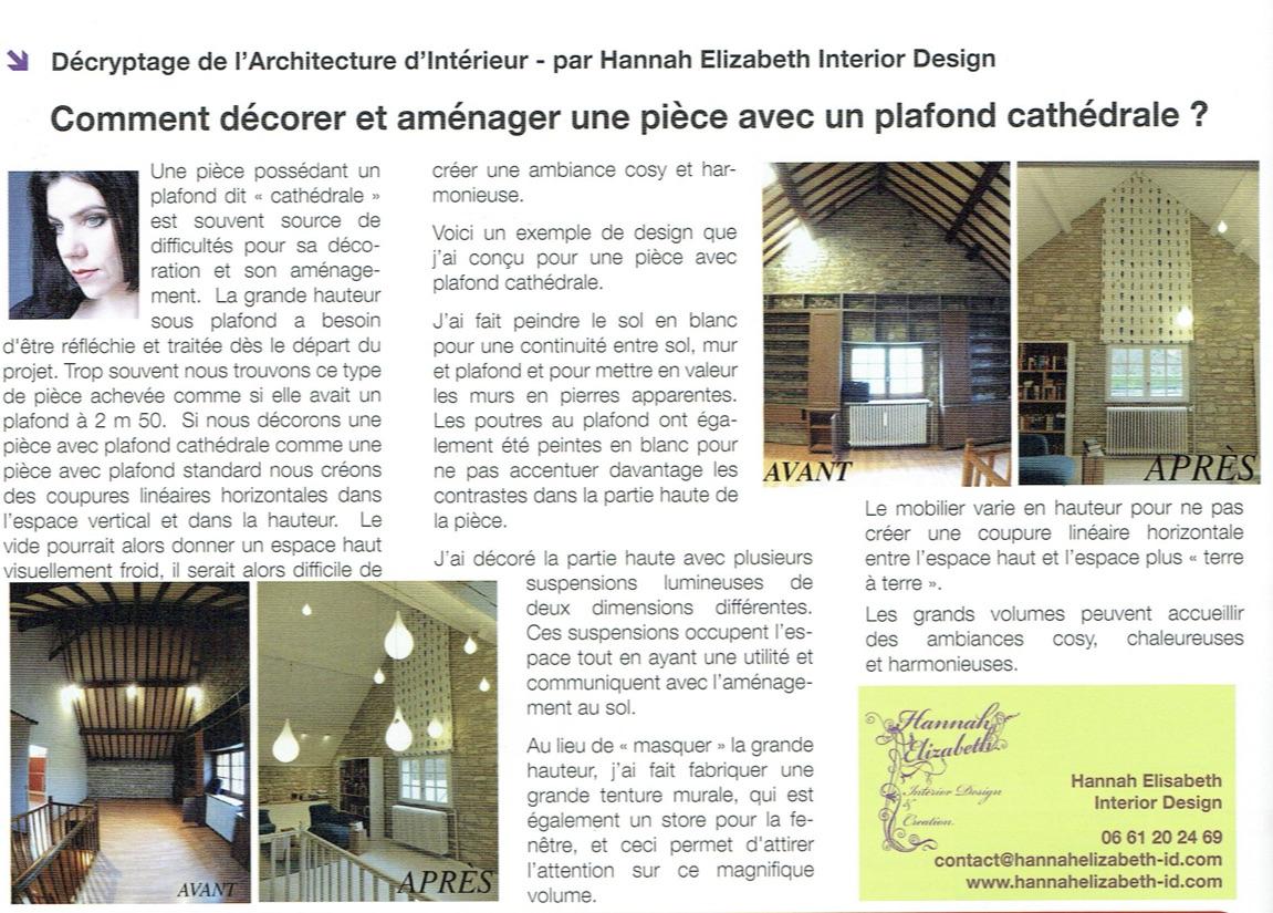 Decorer avec plafond cathedrale