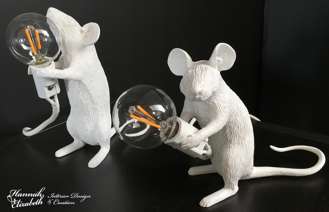 Deux souris en lampes