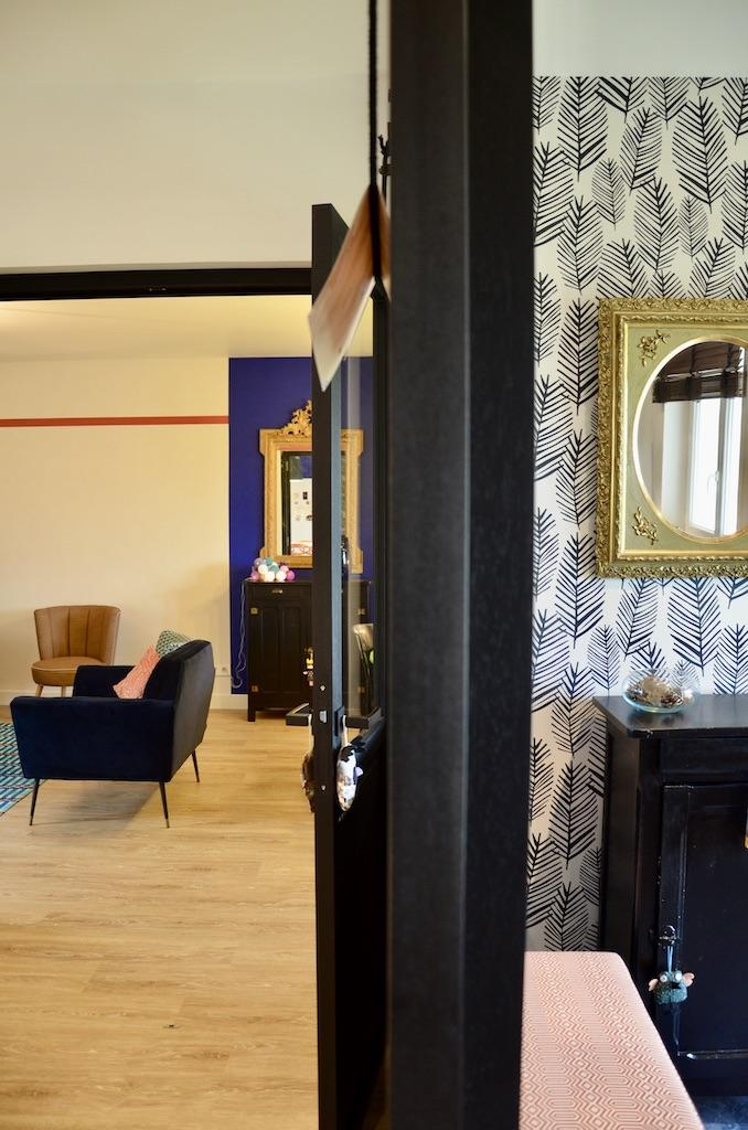 Division entre e salon hannah elizabeth interior design