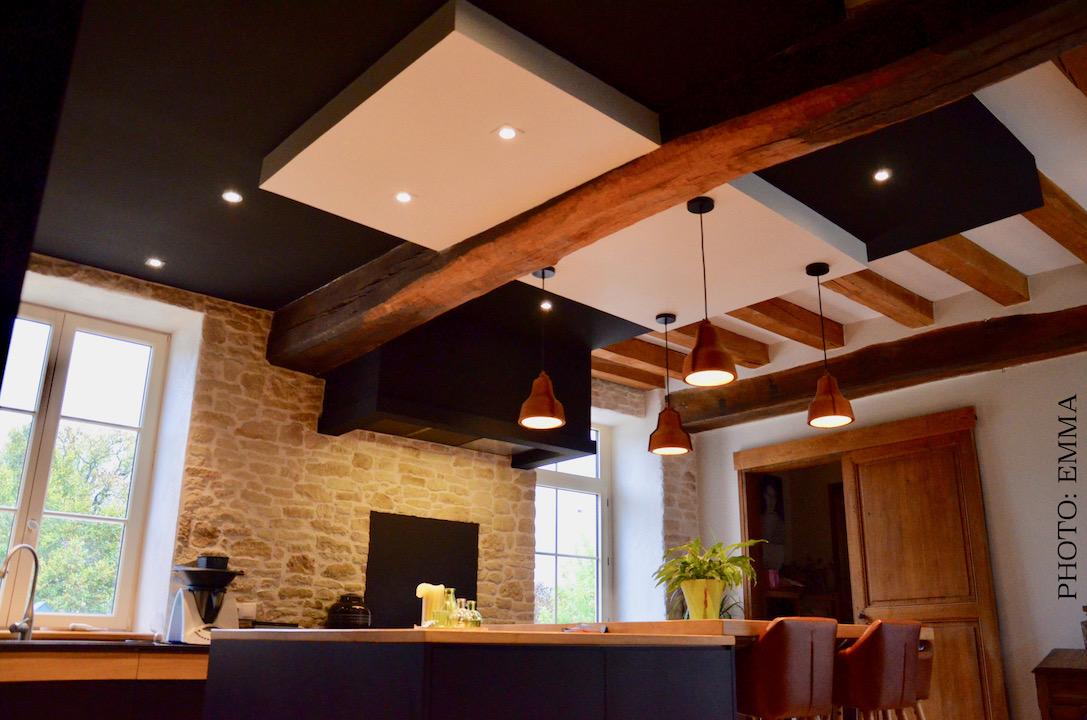 Double faux plafond poutres hannah elizabeth interior design