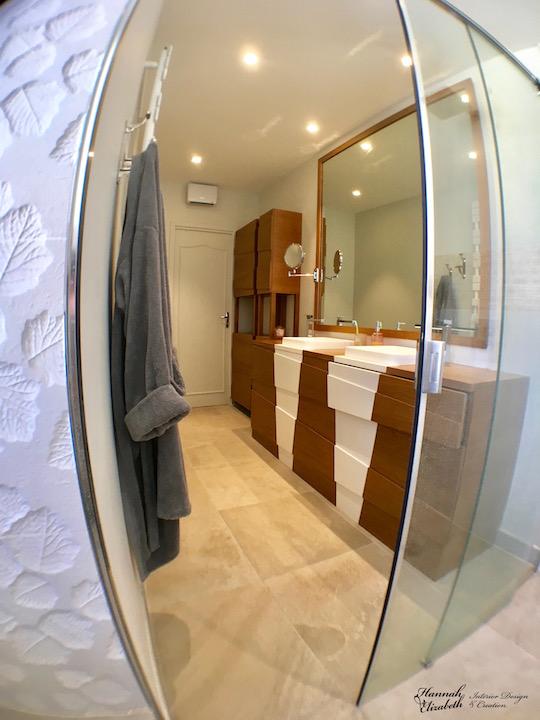 Douche meuble sur mesure salle d eau hannah elizabeth interior design