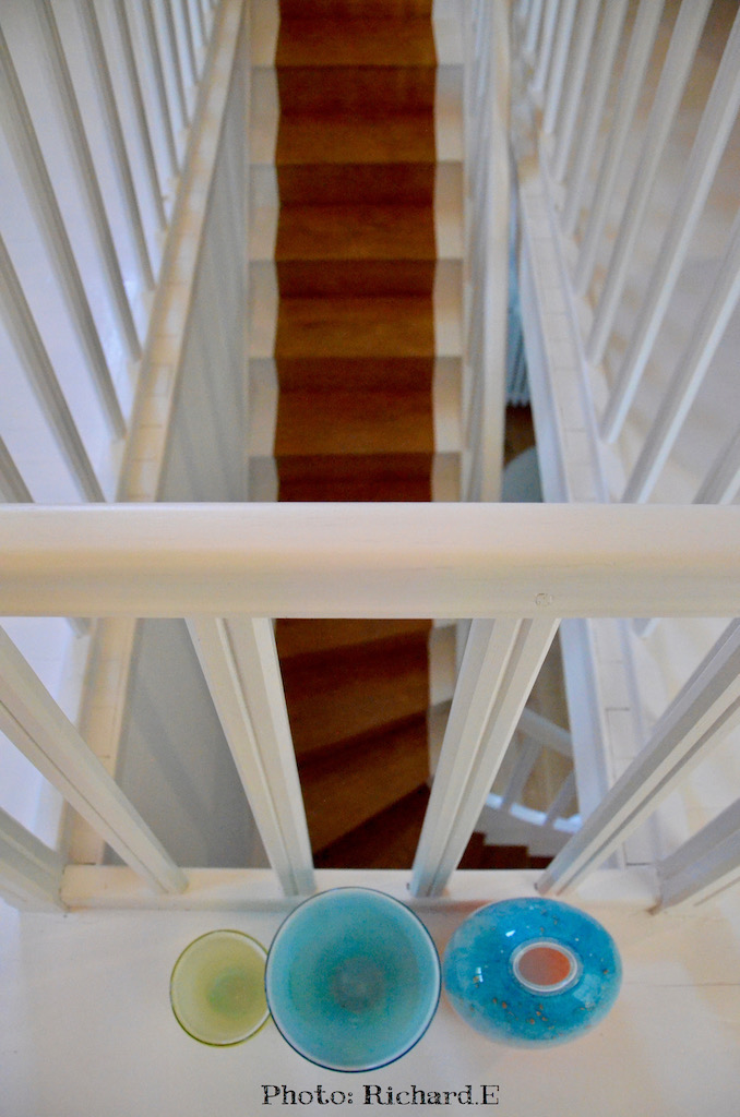 Escalier blanc bois hannah elizabeth interior design