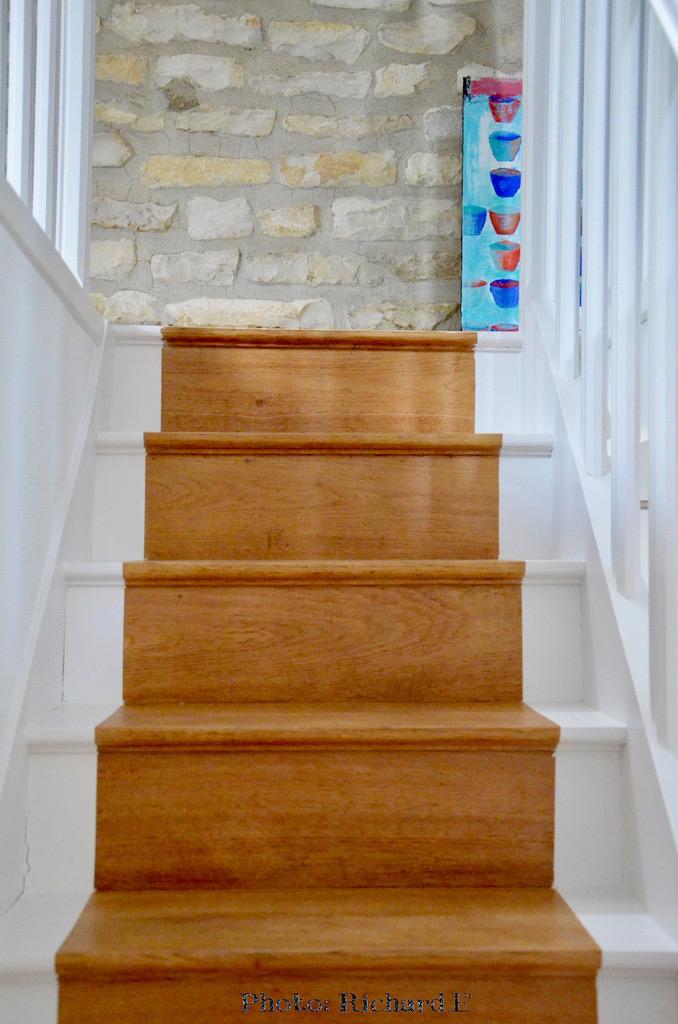 Escalier peint blanc hannah elizabeth interior design