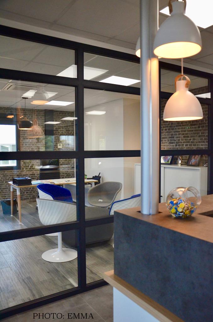 Gan assurance bureau direction brique gris hannah elizabeth interior design