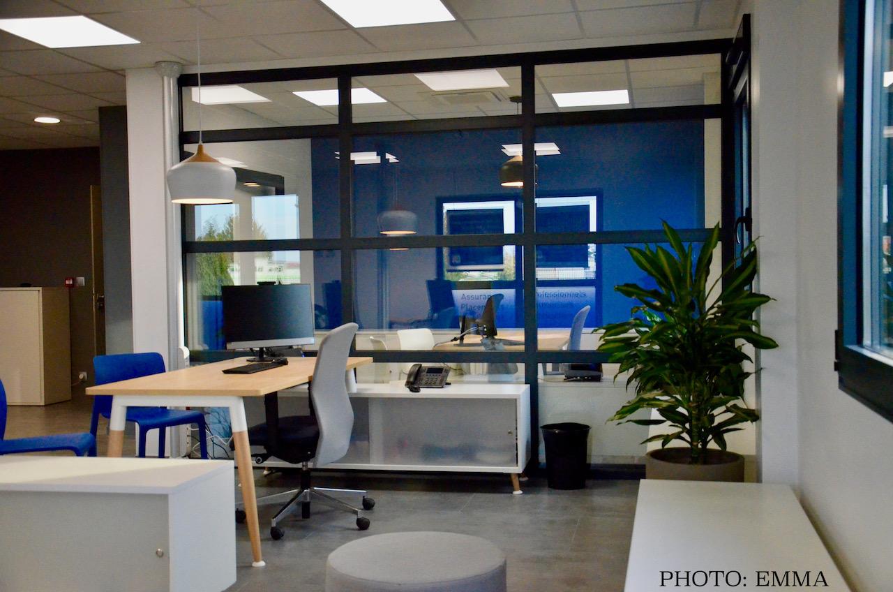 Gan assurances chatillon bureaux verriere hannah elizabeth interior design