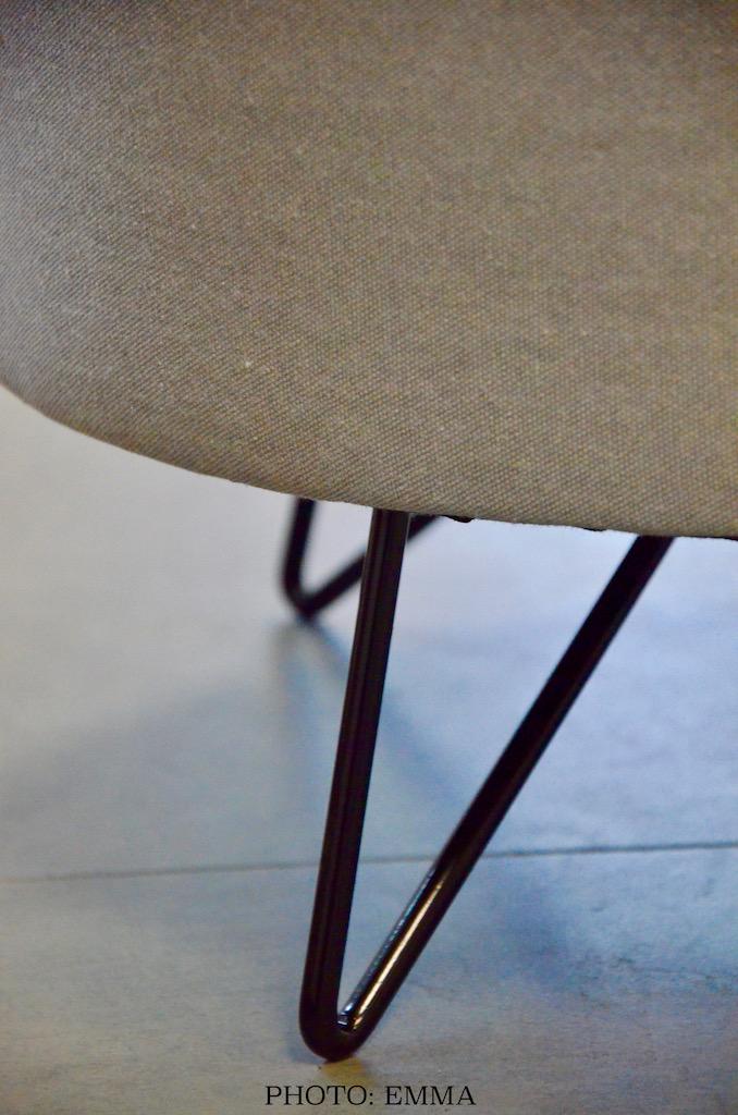 Gan assurances tabouret pied metal hannah elizabeth interior design