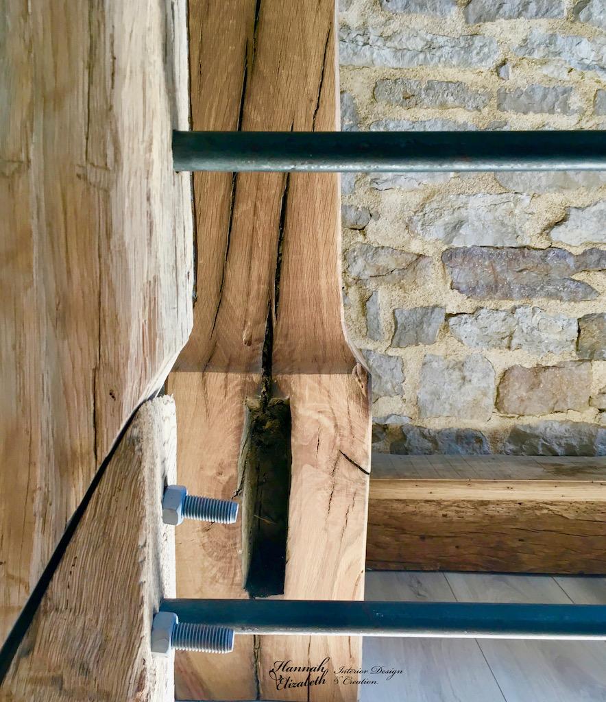 Garde corp metal bois ancien hannah elizabeth interior design