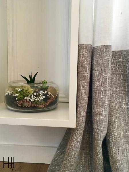 Jardin interieur rideaux blanc gris moulures salon hannah elizabeth interior design