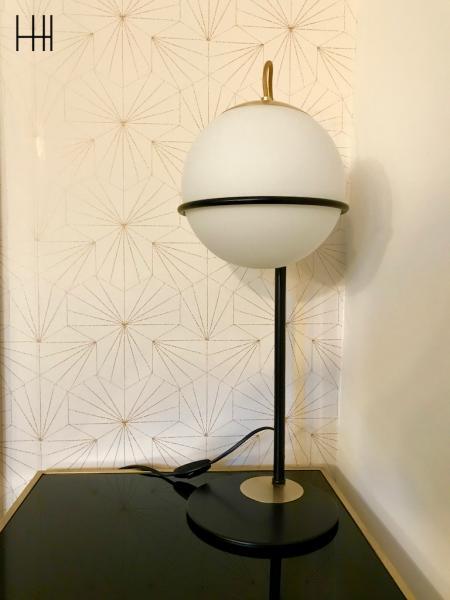 Lampe art deco papier peint retro hannah elizabeth interior design
