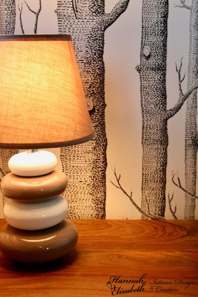 Lampe chevet nature