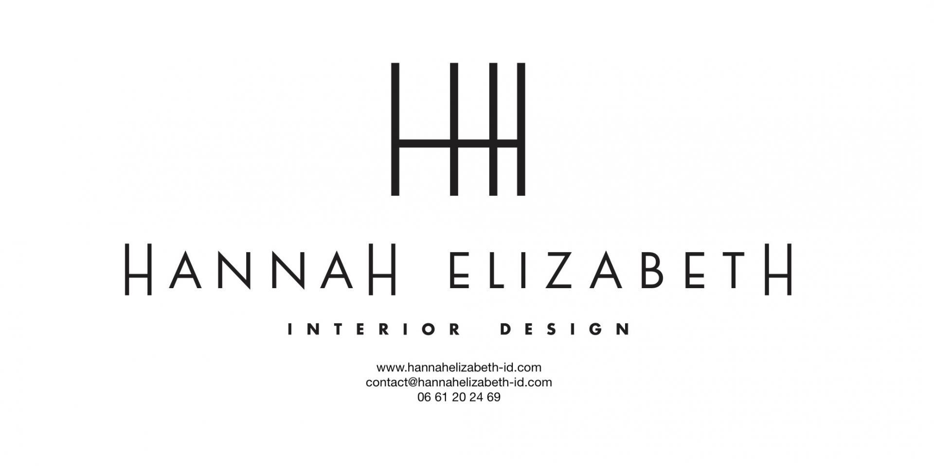 Logo hannah elizabeth id noir avec contacts 1