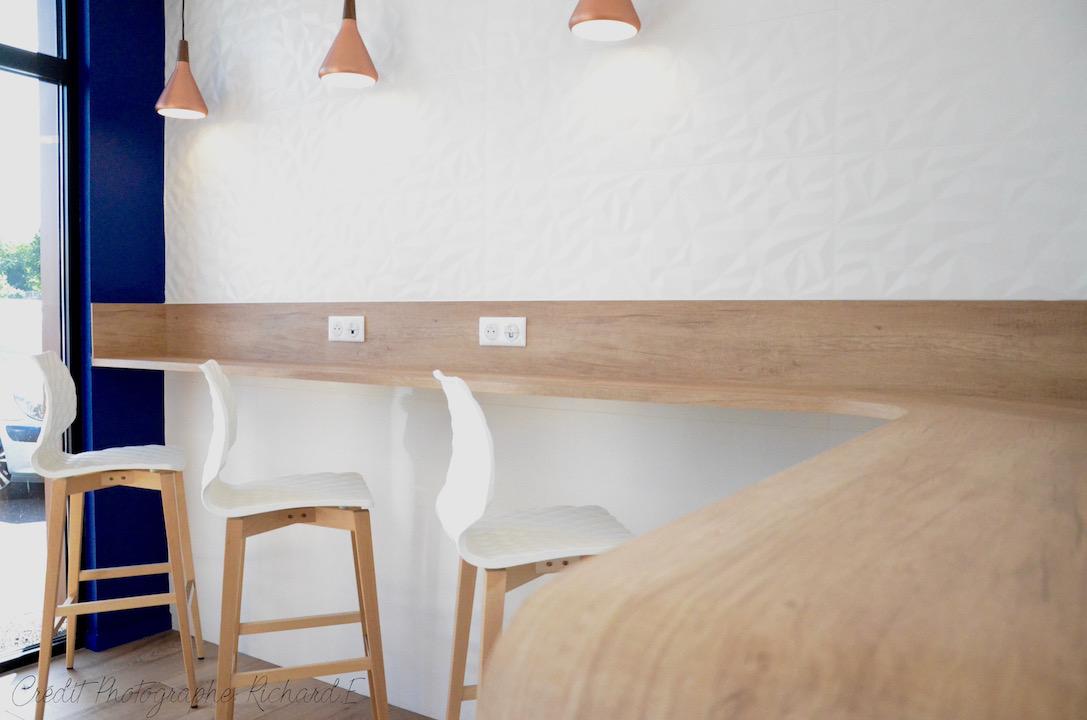 Mange debouts avec faience relief chaises relief