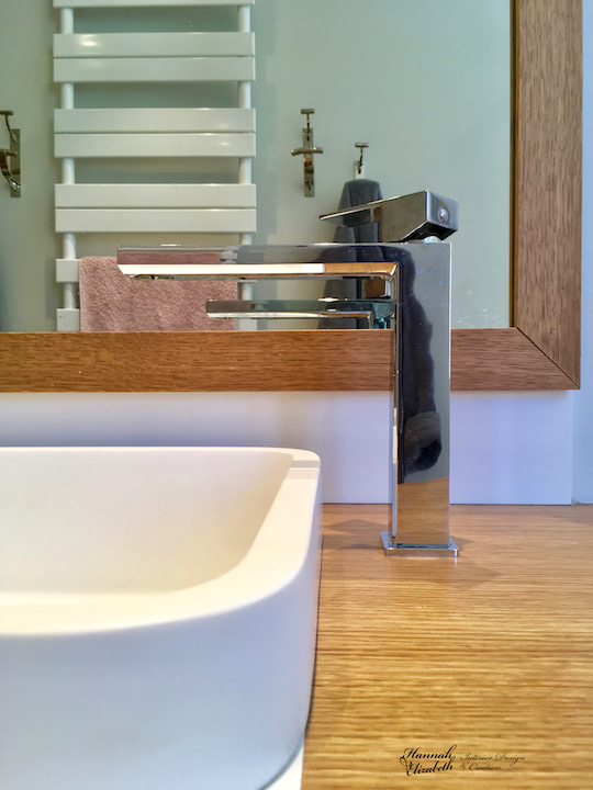 Meuble vasque miroir robinet hannah elizabeth interior design
