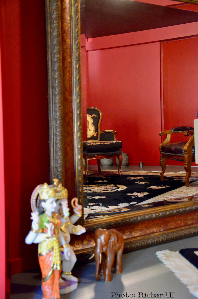 Murs rouge hannah elizabeth interior design