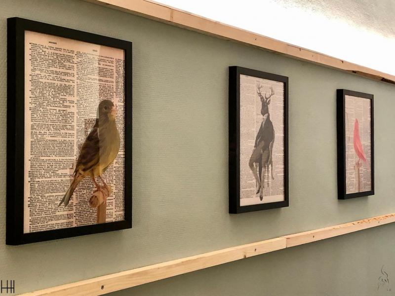 Oiseau deco mur vert d eau hannah elizabeth interior design