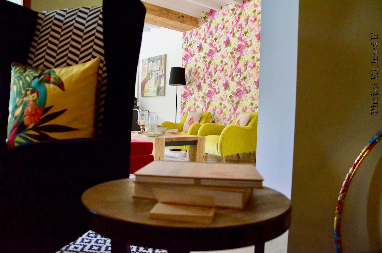 Papier peint sanderson salon couleur hannah elizabeth interior design