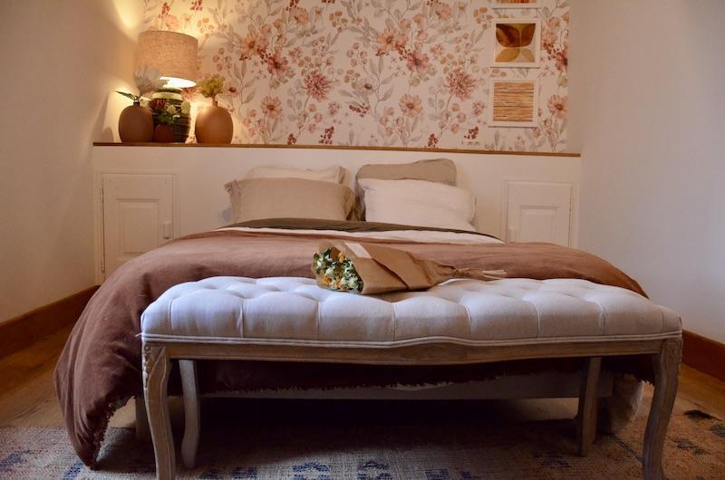 Papier peint tete de lit ton autonne hannah elizabeth interior design