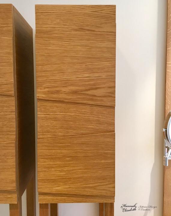 Placard salle de bain sur mesure chene hannah elizabeth interior design