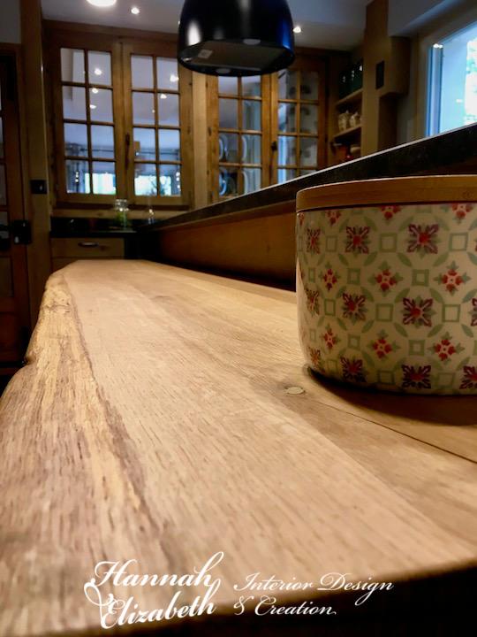 Plan repas cuisine bois massif