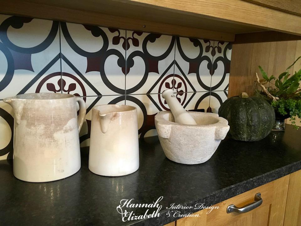 Plan travail cuisine granite bois et meubles bois