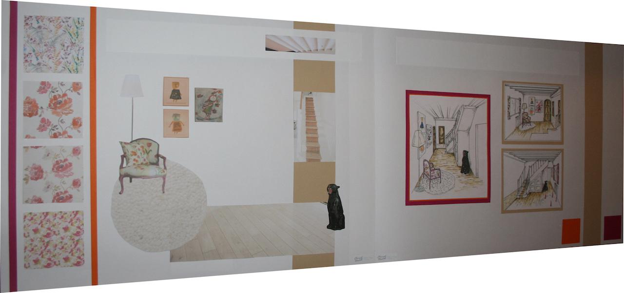 Planche ambiance design cage d escalier