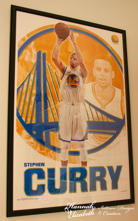 Poster stephen curry chambre garcon
