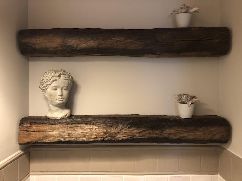 Poutres bois viellis decoration wc hannah elizabeht interior design