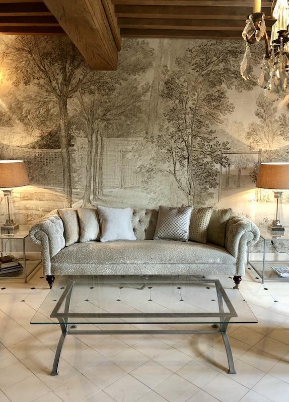 Poutres papier panoramique nature sol pierre pampilles hannah elizabeth interior design