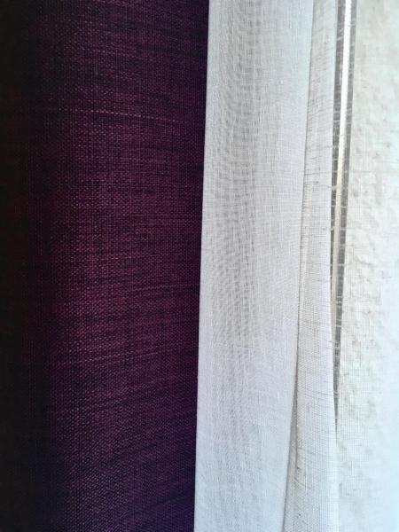 Rideau violet voilage hannah elizabeth interior design